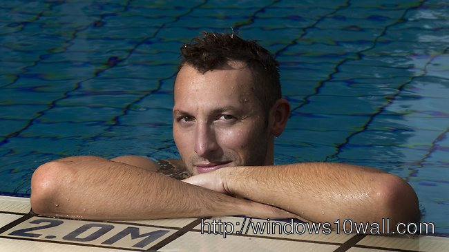Ian Thorpe Swimming Background Wallpaper