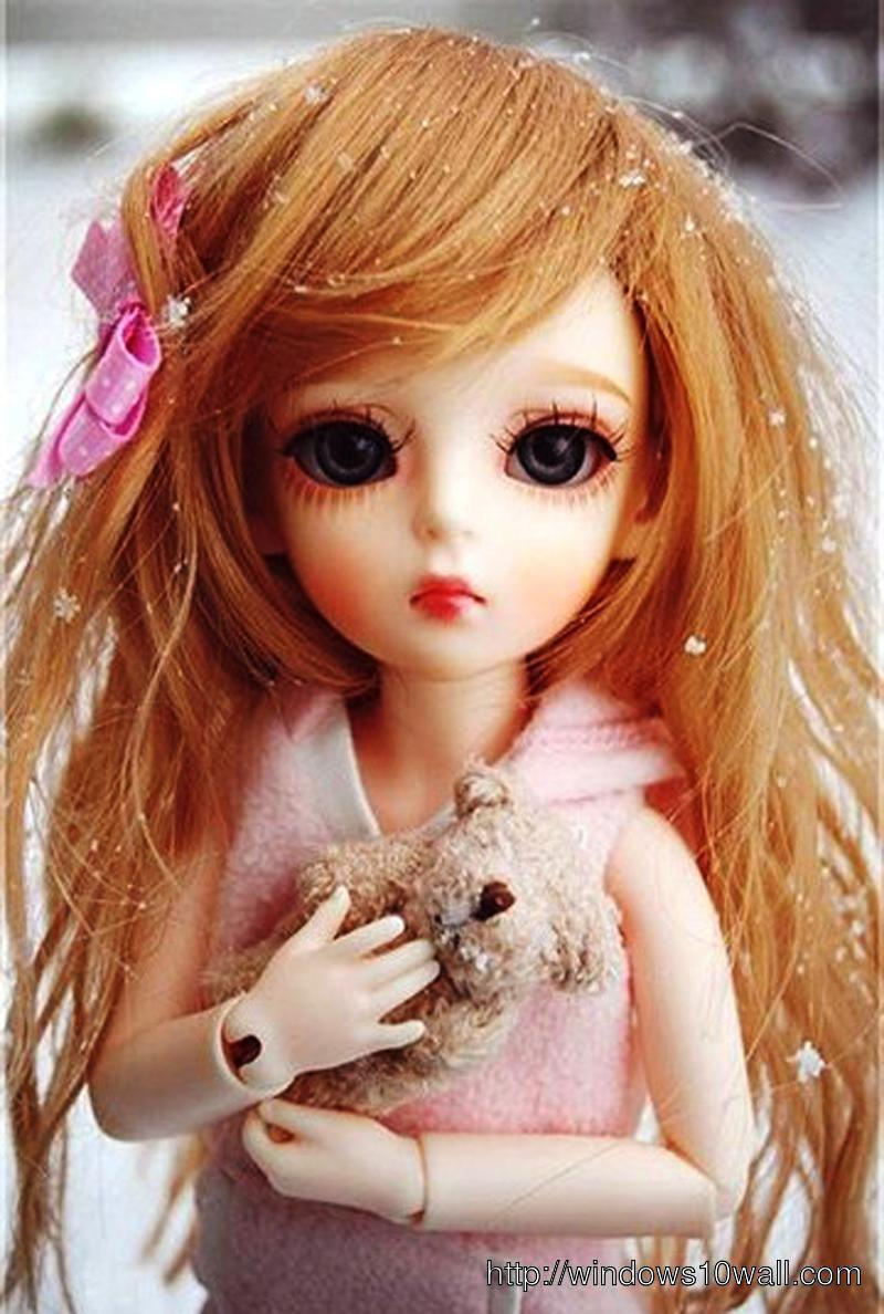 Latest Sad Doll Mobile Pic for Girls