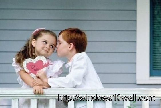 Lovely Kids Couple Wallpaper