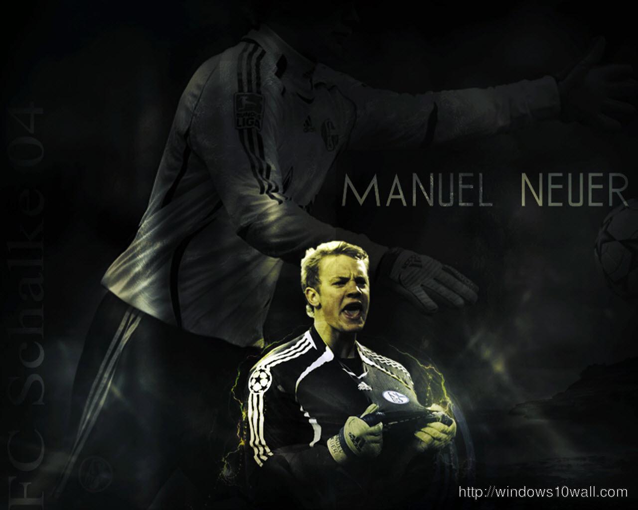 manuel neuer Dark Background Pic