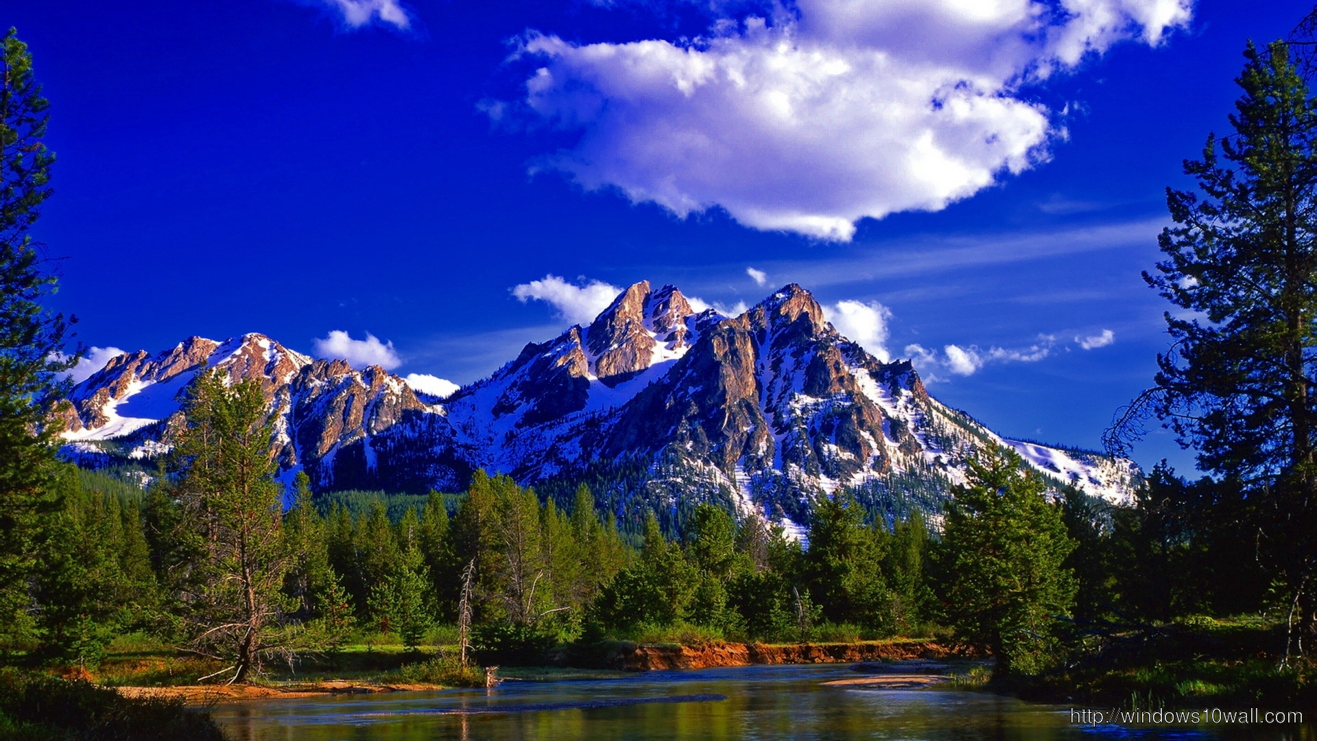 Mountain Nature Blue Sky Wallpaper - windows 10 Wallpapers