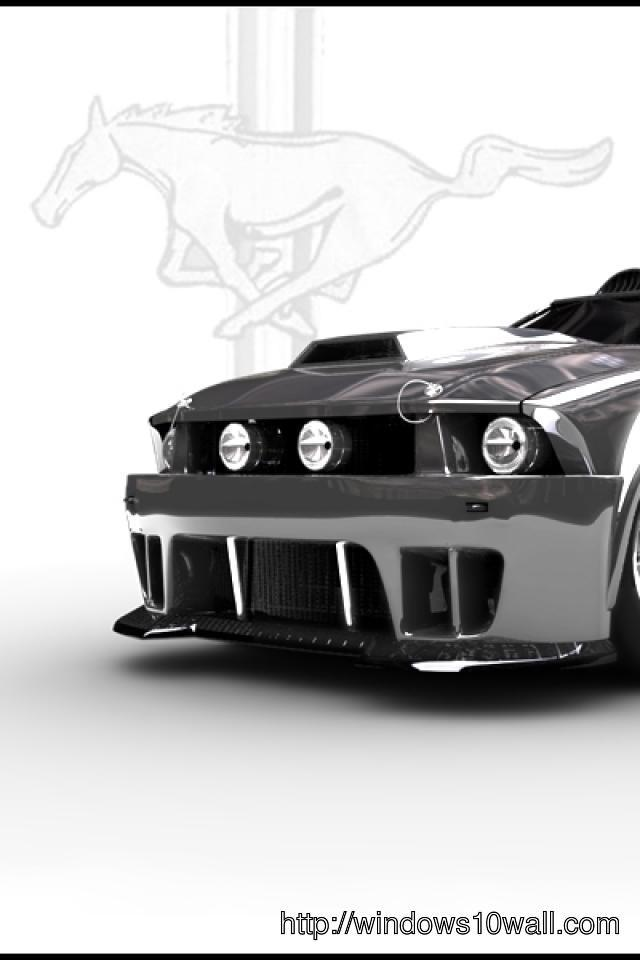 mustang car for mobile iphone