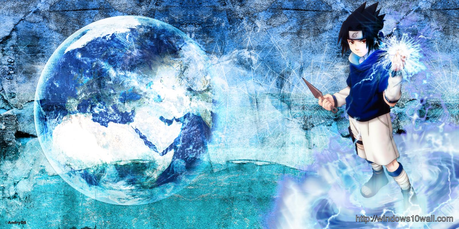 Naruto Shippuden Sasuke And Moon Wallpaper