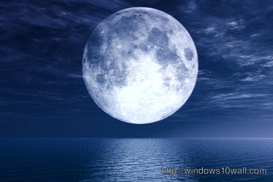 Nice Super Moon Wallpaper