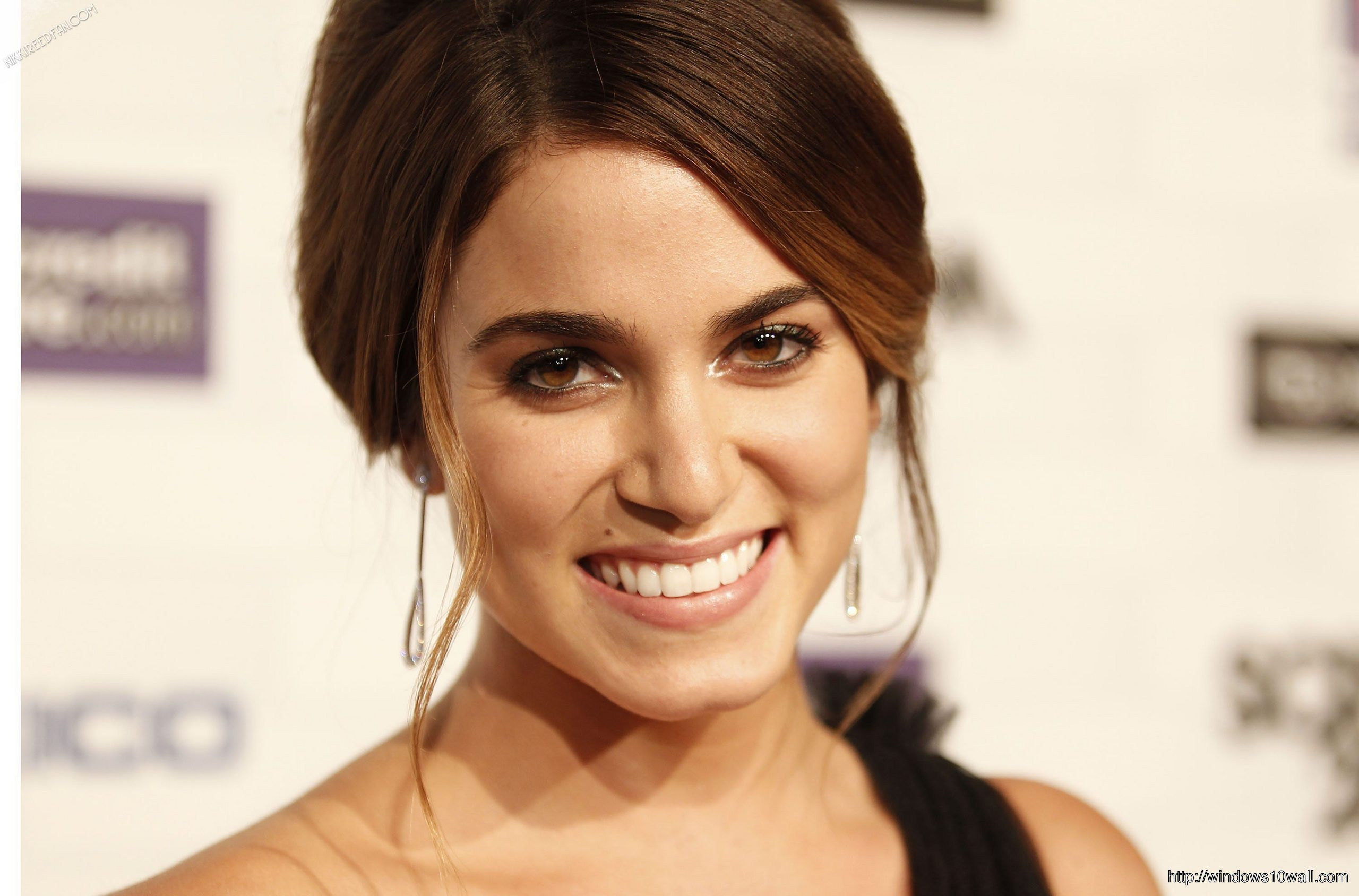 Nikki Reed Laughing Wallpaper