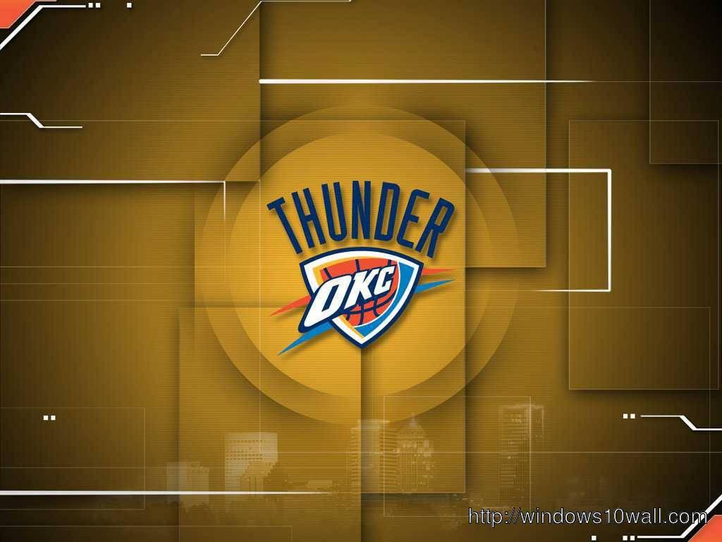Okc Thunder Logo Background Wallpaper