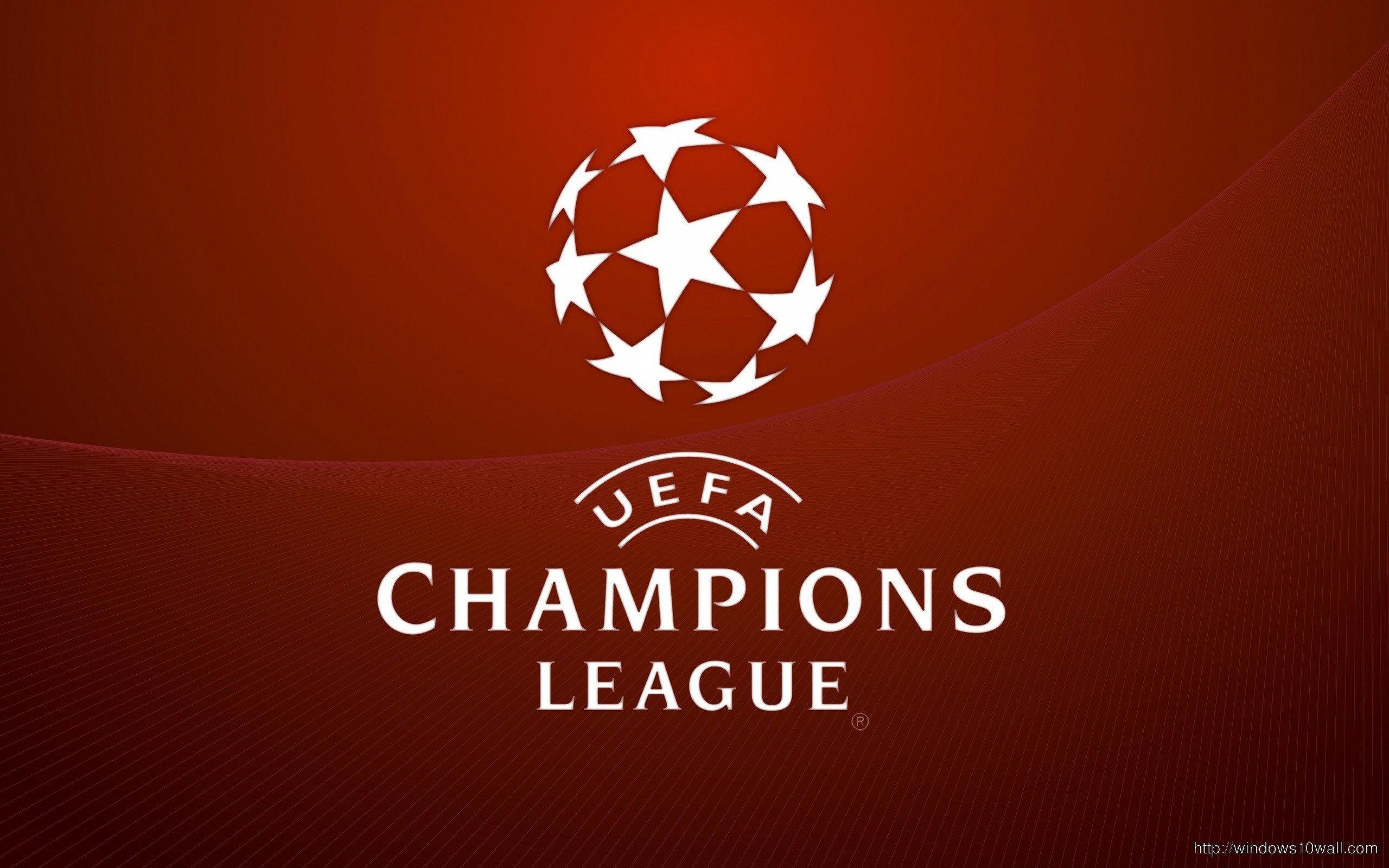 Red Uefa Champions League Logo Wallpaper