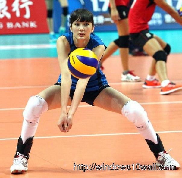 Sabina Altynbekova Volleyball Player Wallpaper