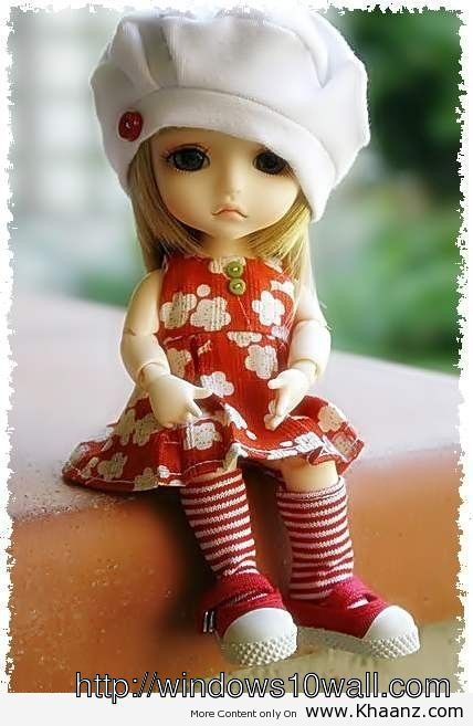 Sweet n Cute Doll With Nice Red Dress