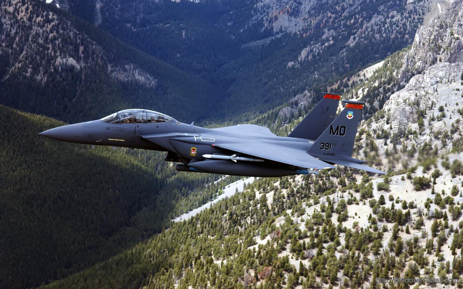 Us Military Plane Over Hills Plane