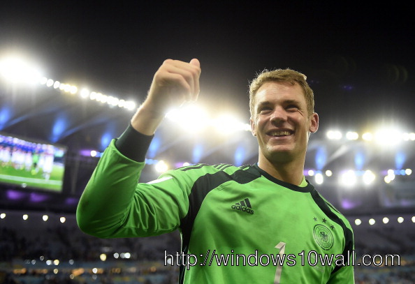 World Cup 2014 Manuel Neuer wins Golden Glove Picture