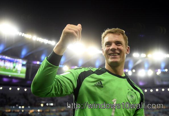 World Cup 2014 Manuel Neuer wins Golden Glove Picture