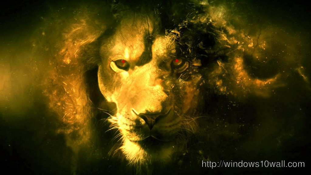 3d Wallpaper Lion Background 1024x576 Windows 10 Wallpapers