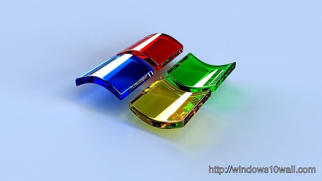 3d wallpaper red blue windows logo 1024x576 windows 10 for Bureau 3d windows 10