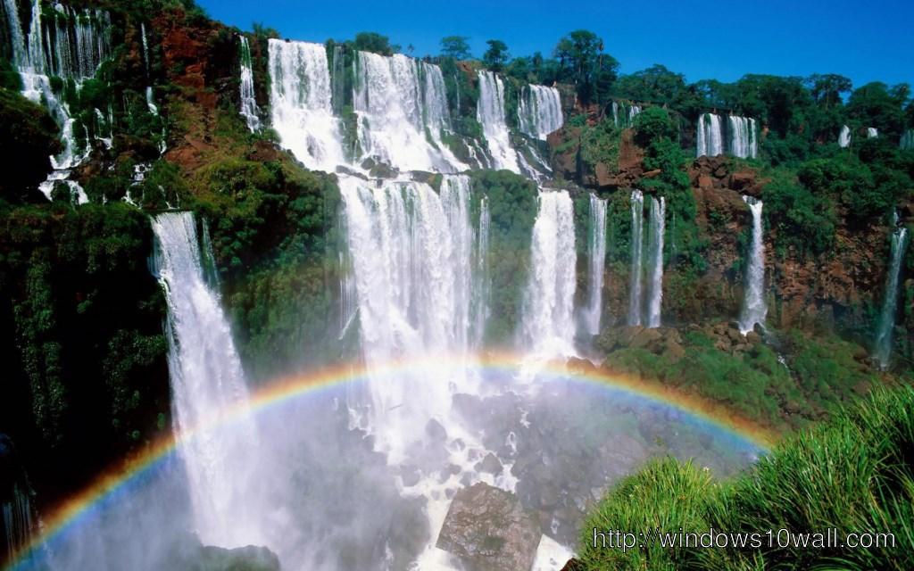 3d Wallpaper Widescreen Waterfalls 1024x640