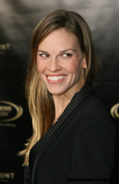 Hilary Swank Smiling