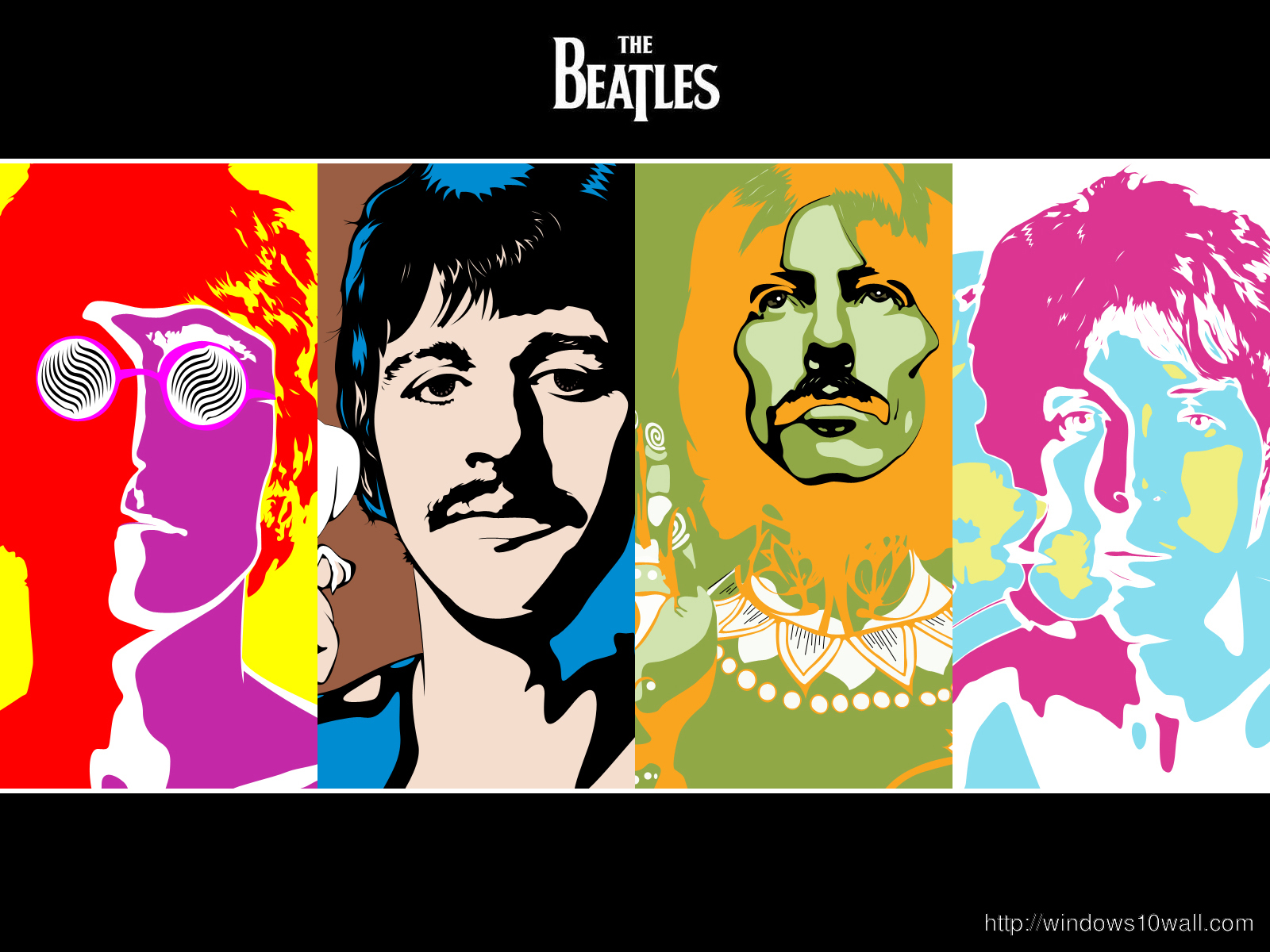 abstract-the-beatles-background-wallpaper