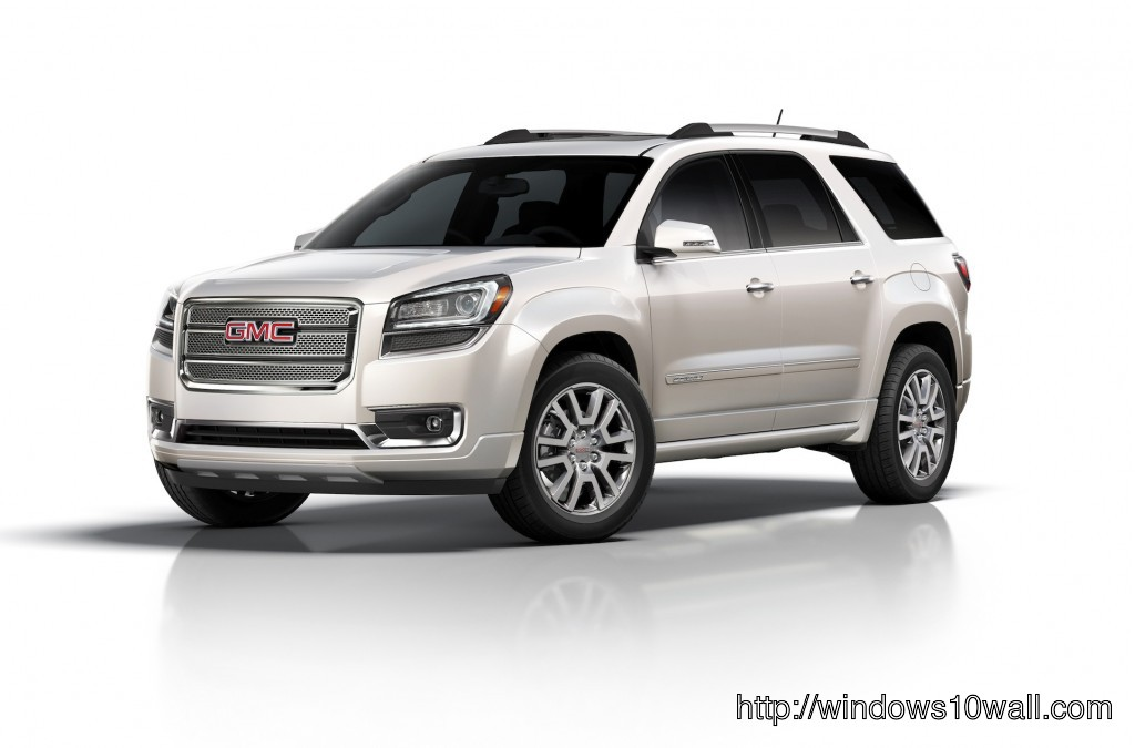 All New GMC Acadia 2014 Photo in White Background
