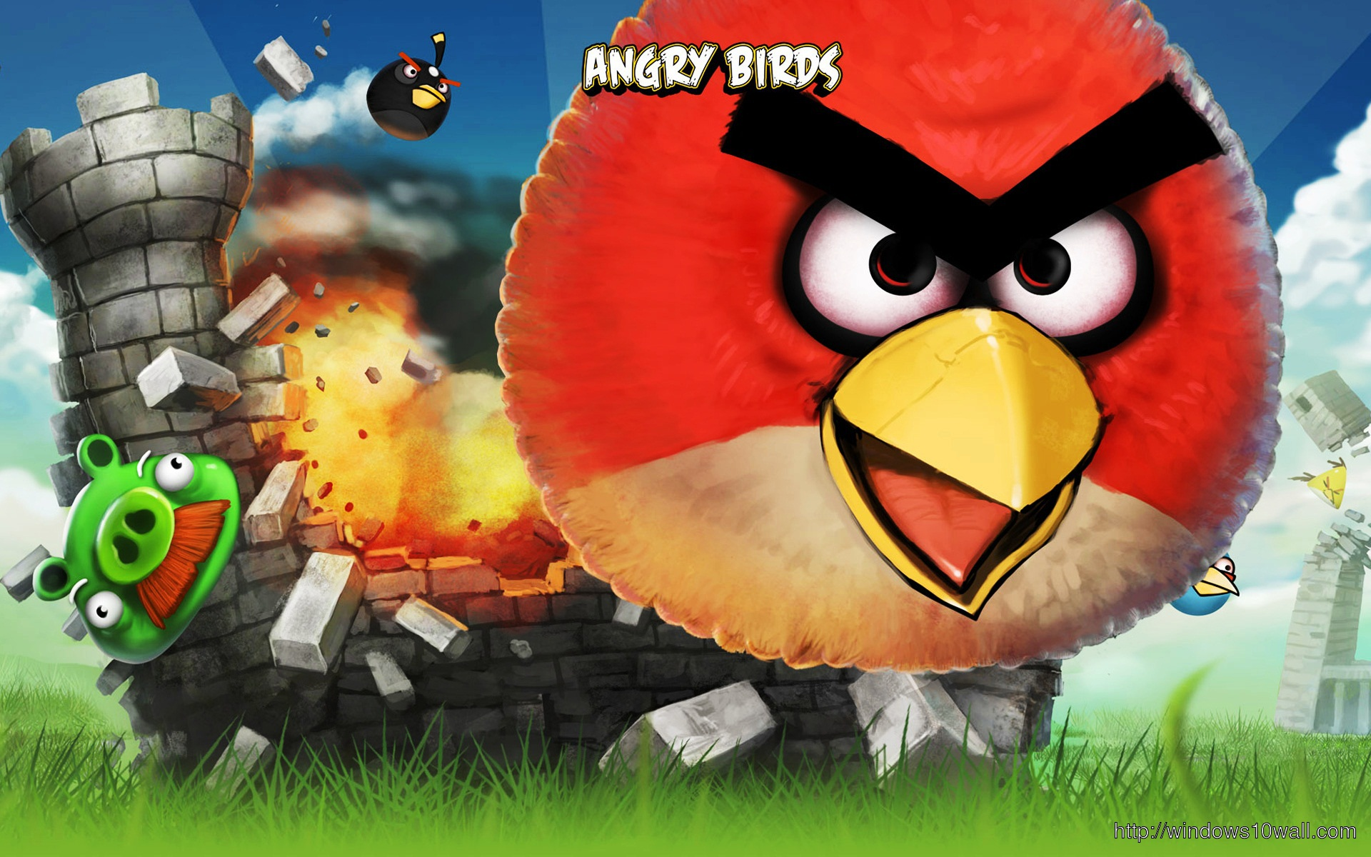 Angry Birds Nice Wallpaper