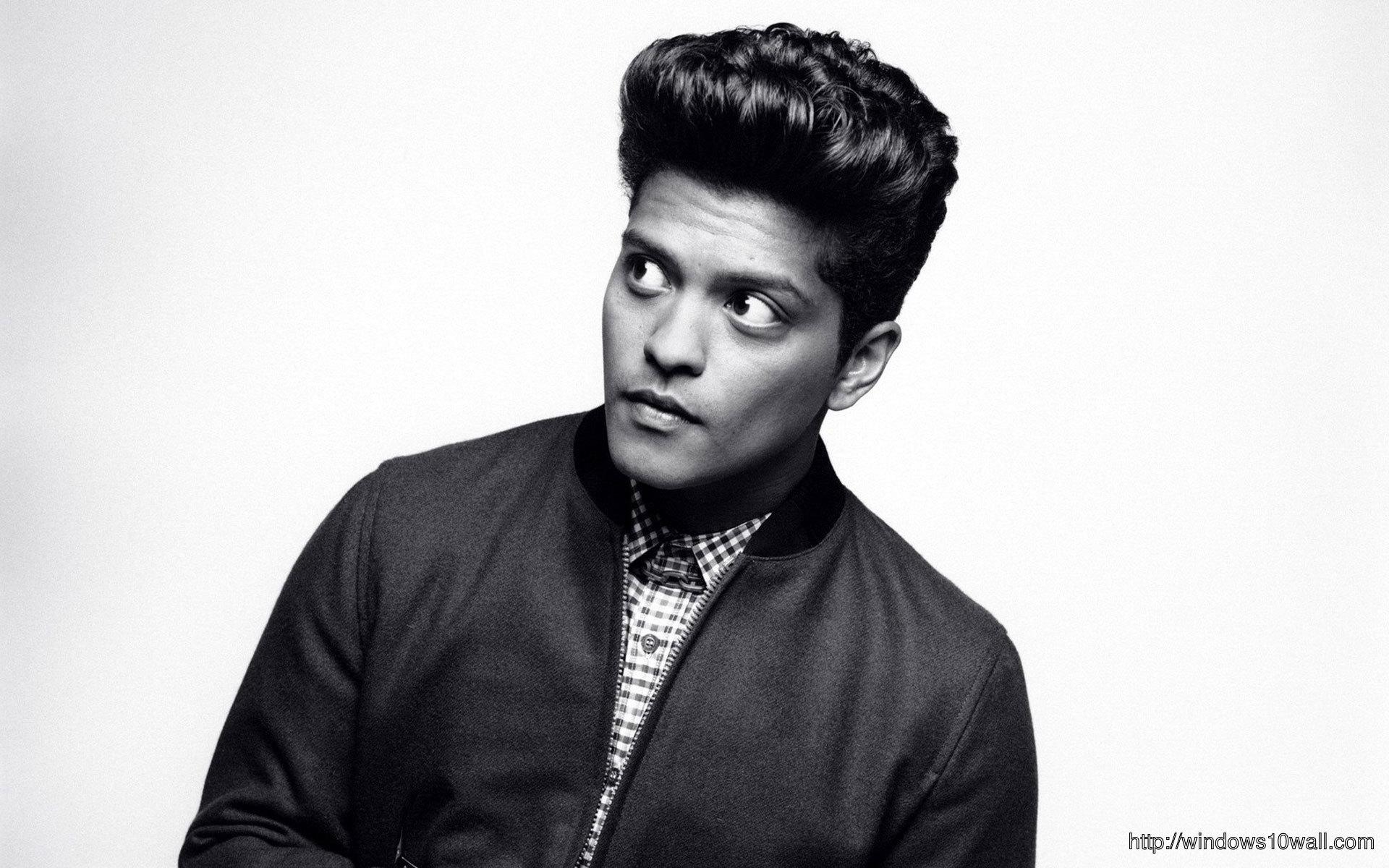 Bruno Mars Bw Background Wallpaper