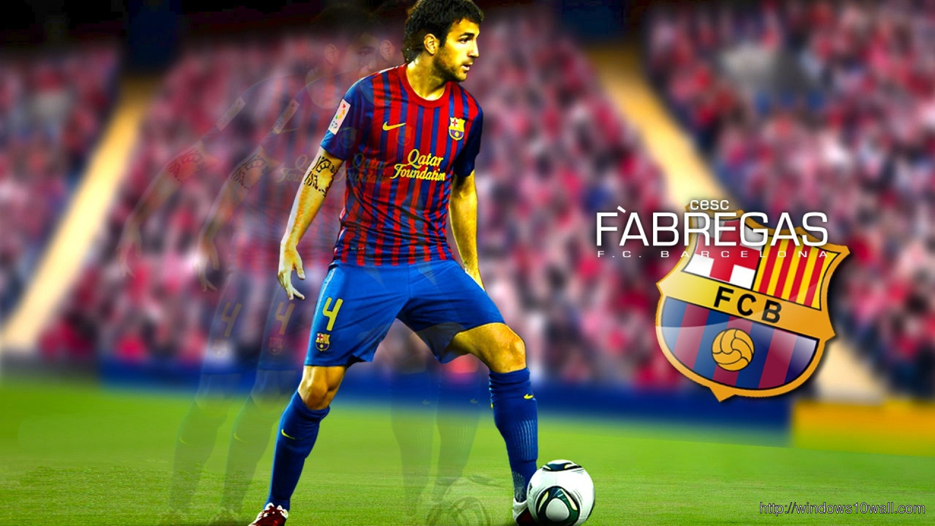 Cesc Fabregas Barcelona Background Wallpaper