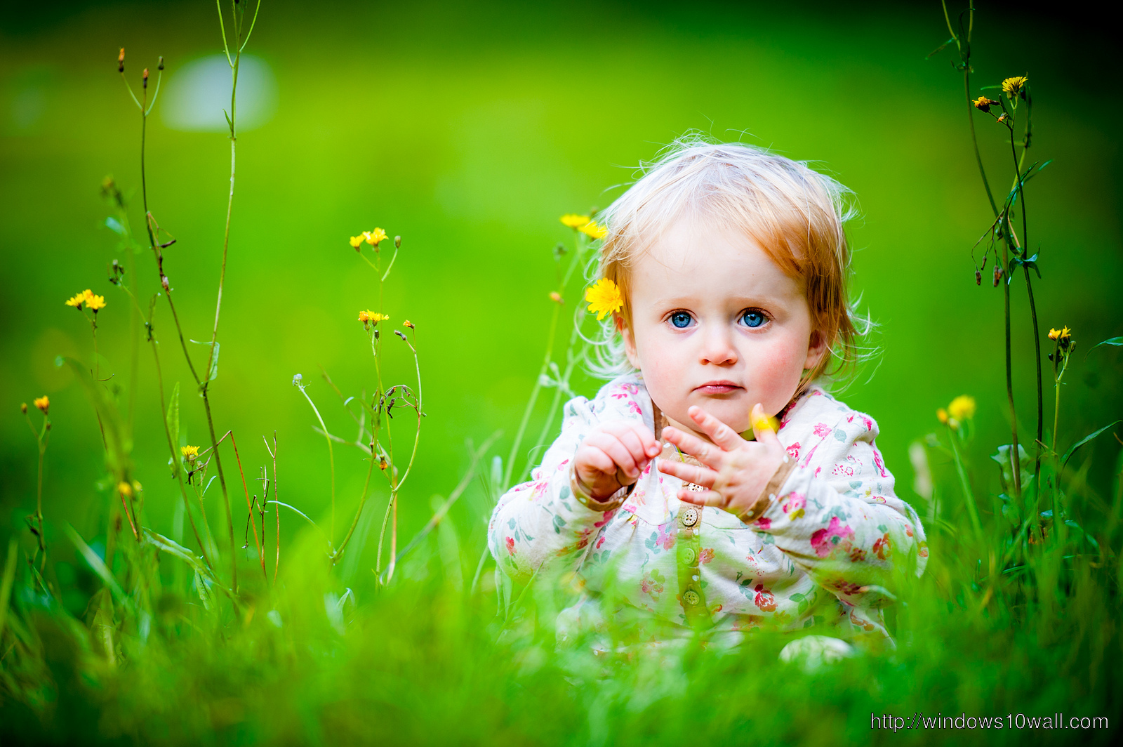 cute babies girls nature wallpaper