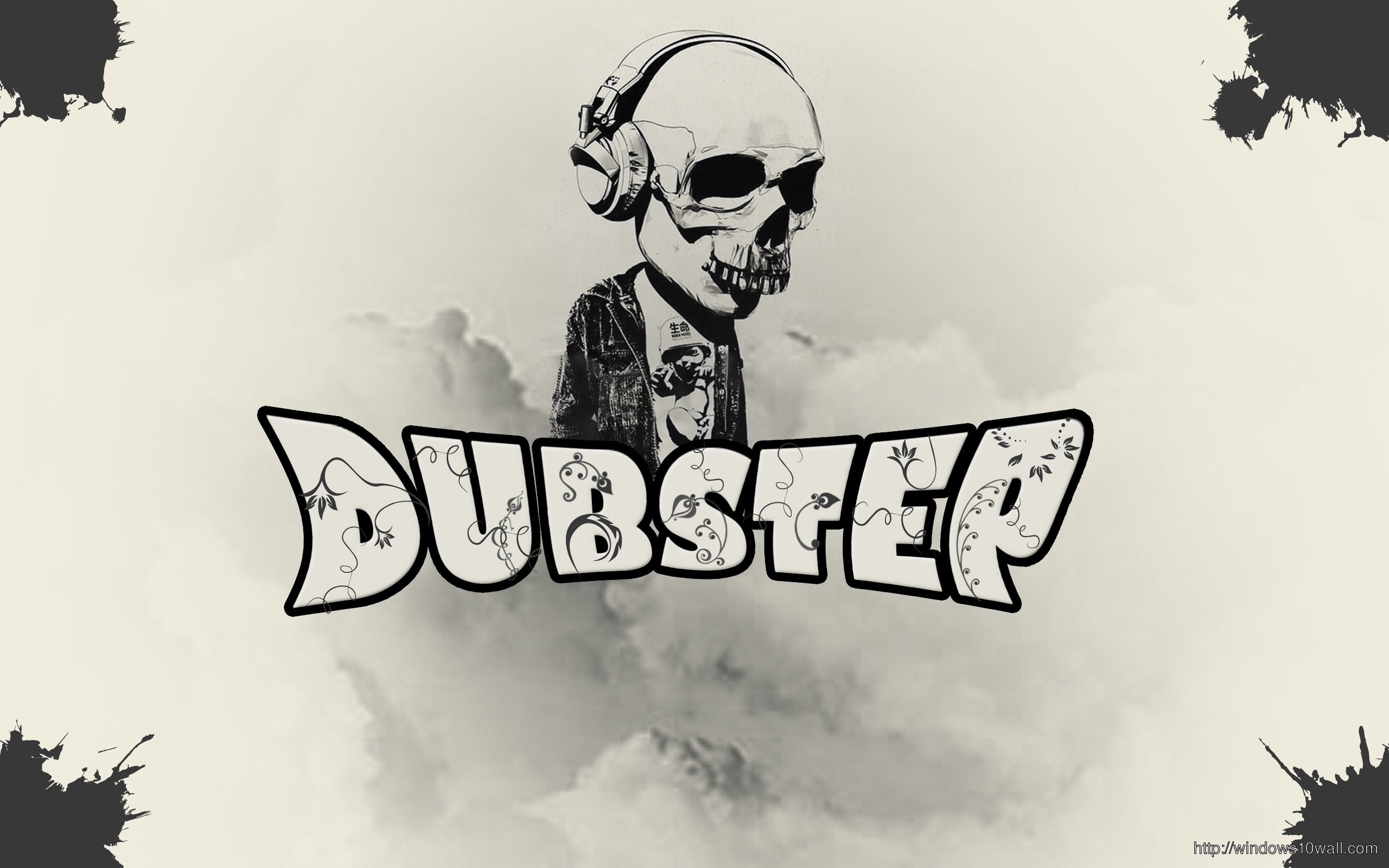 dubstep-skull-music-background-wallpaper