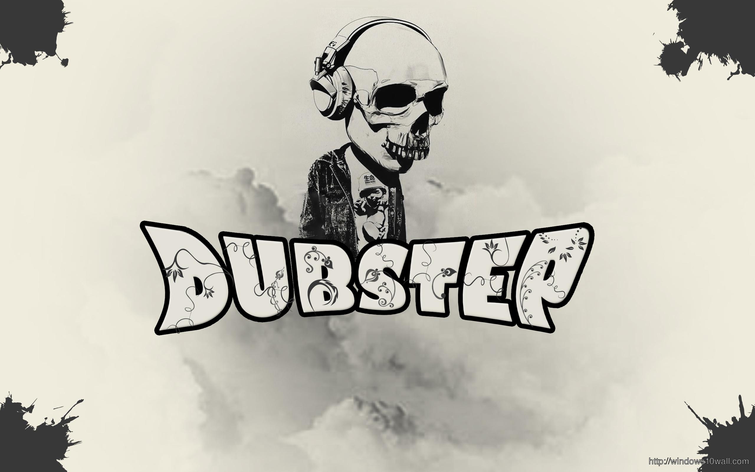 Dubstep Skull Music Background Wallpaper