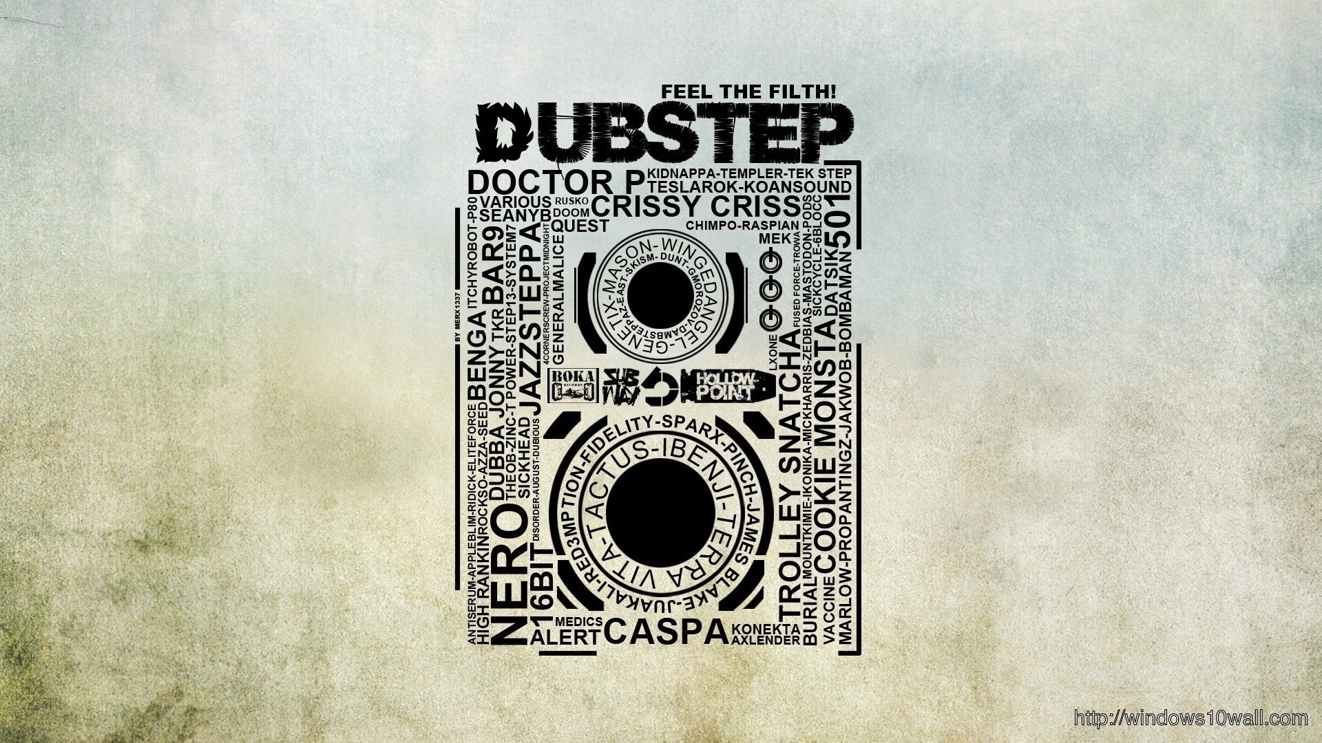 Dubstep Typography Background Wallpaper