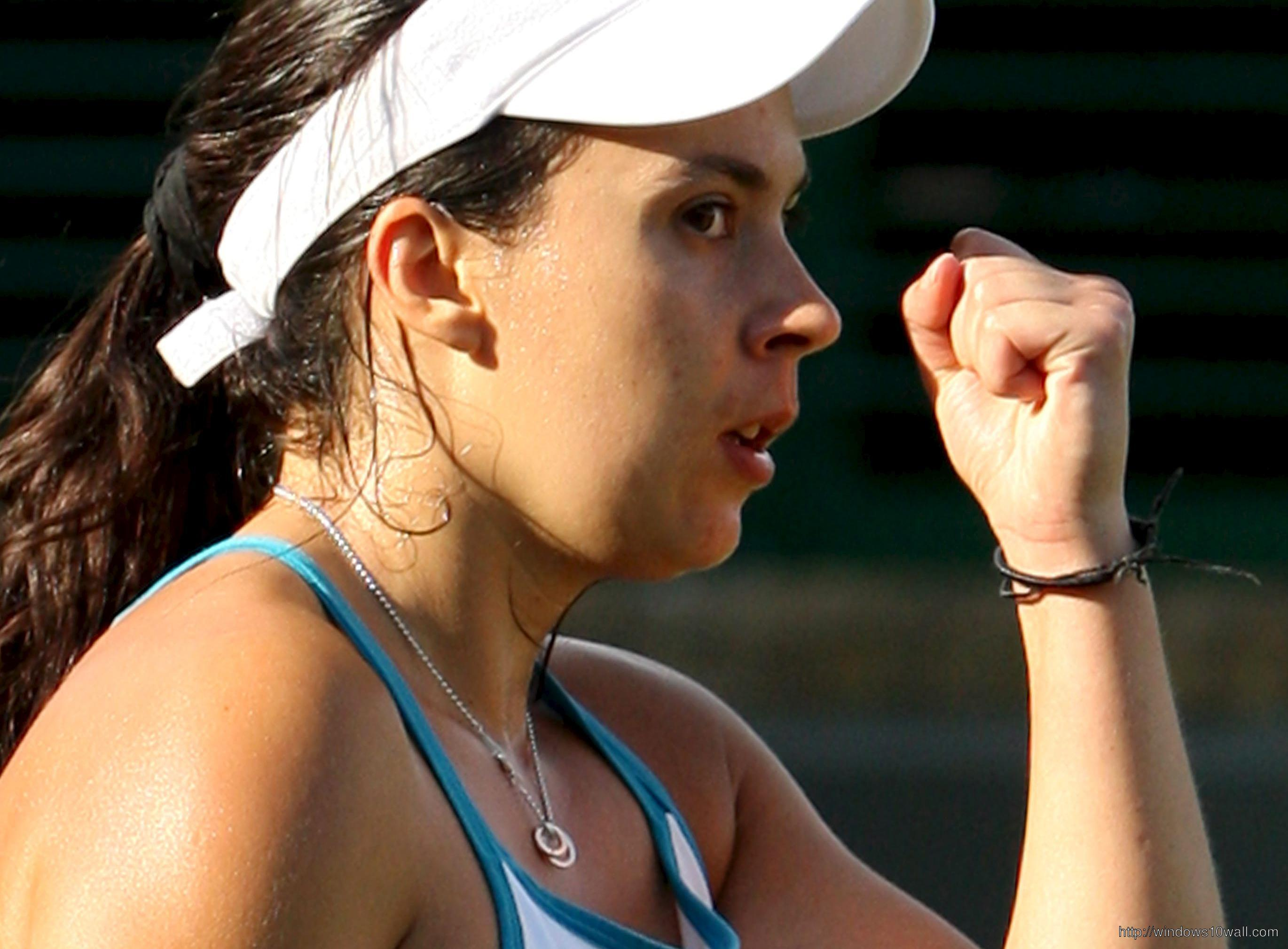 Marion Bartoli Close Up Background Wallpaper