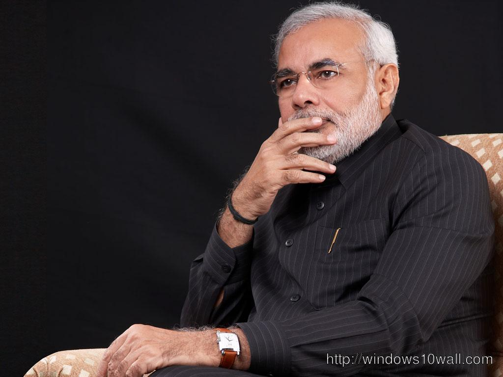 Narendra Modi Image in Black Background