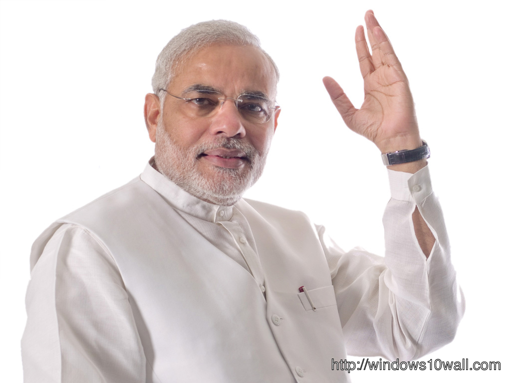 Narendra Modi in White Suite Wallpaper