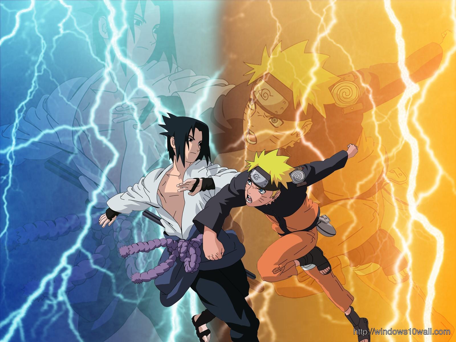 naruto in sage mode fighting sasuke wallpaper