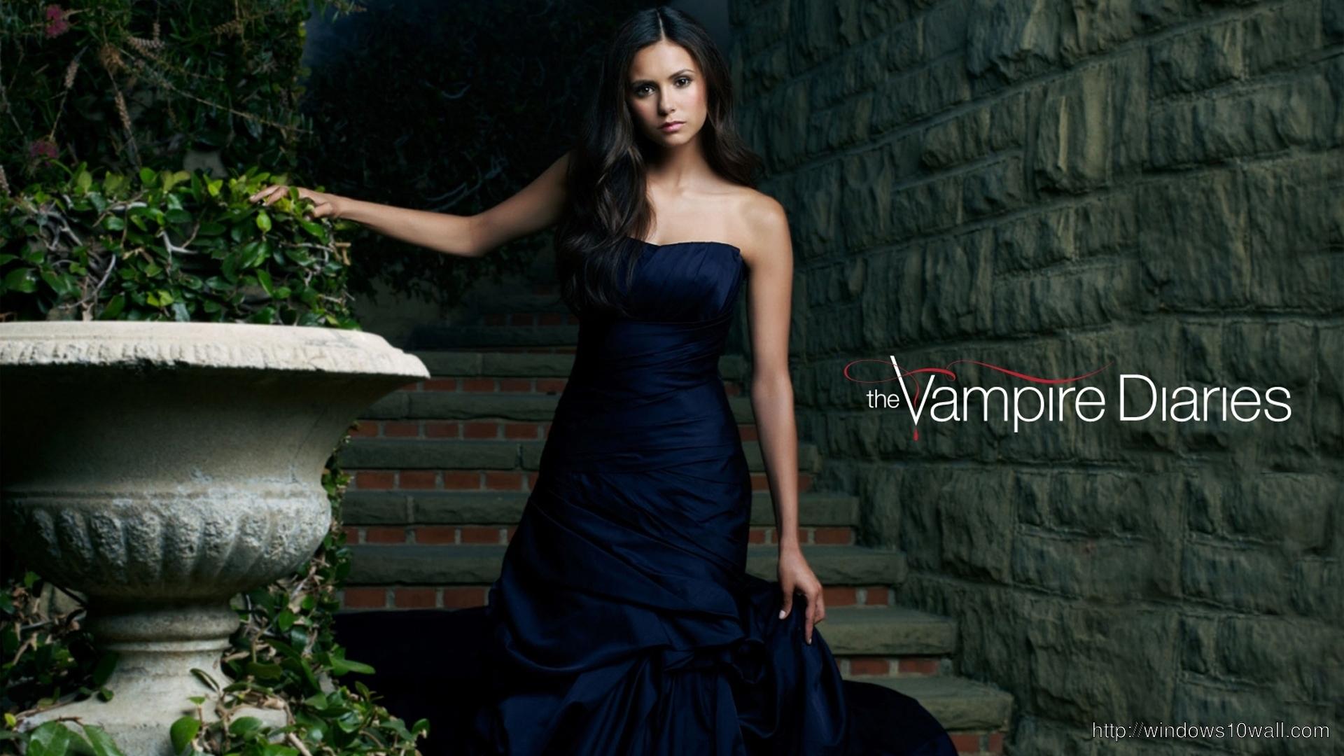 Nina Dobrev Vampire Diaries Actress Wallpaper