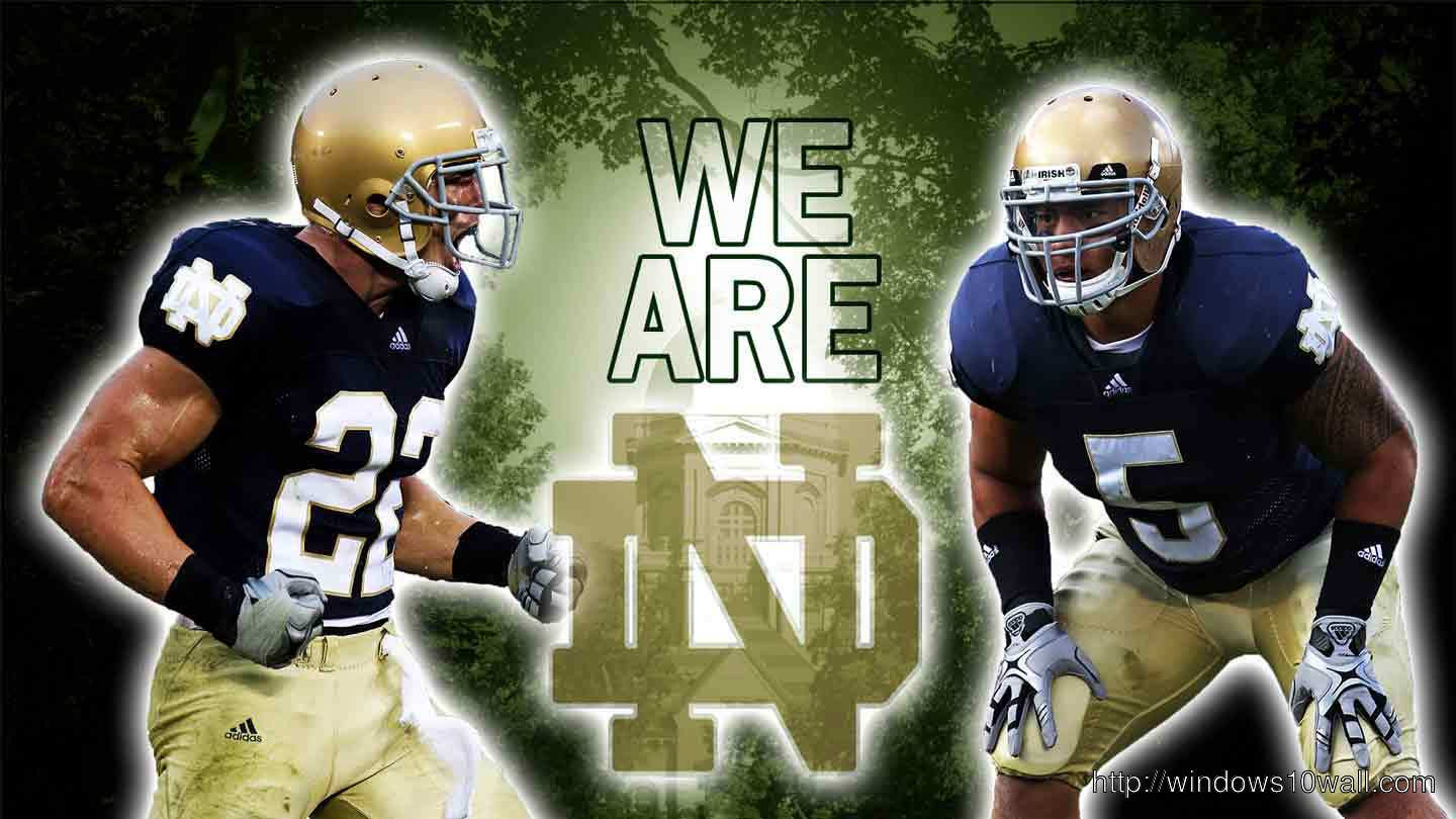 Notre Dame Football Background Wallpaper