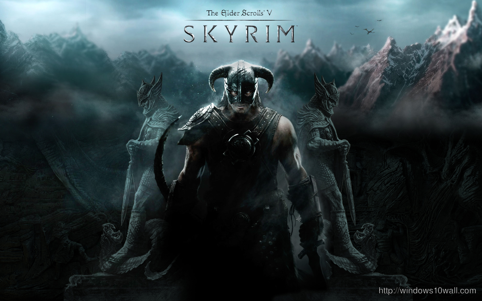 Skyrim Background Wallpaper