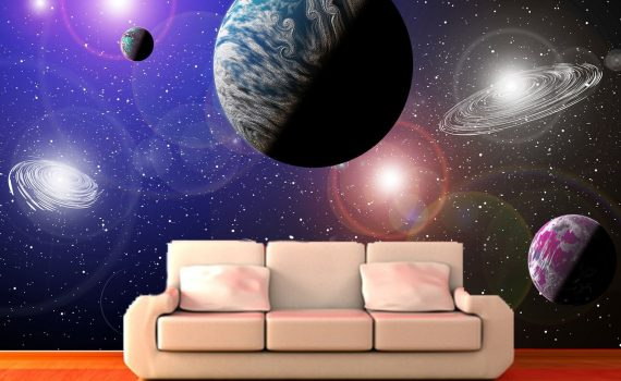 Universe Decorating Wallpaper for Bedroom