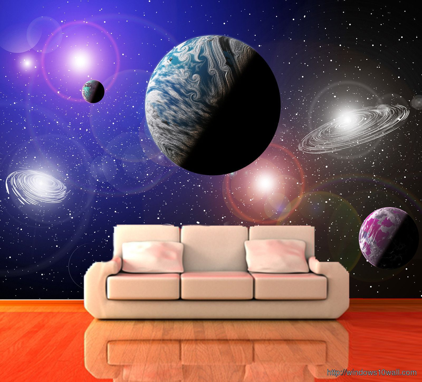 Universe Decorating Wallpaper for Bedroom