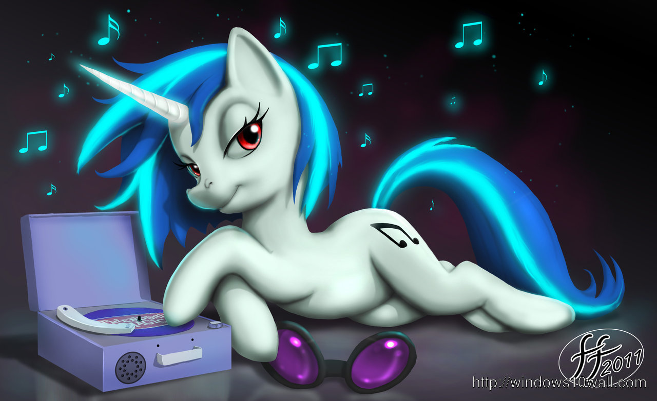 Vinyl Scratch Desktop Wallpaper