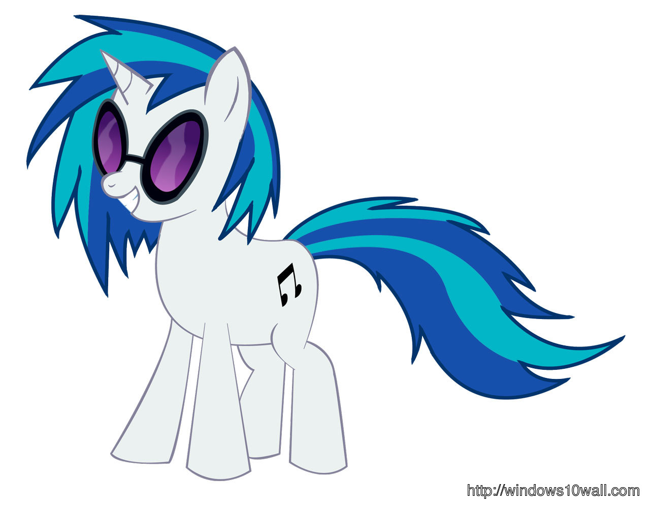 Vinyl Scratch White Background Wallpaper
