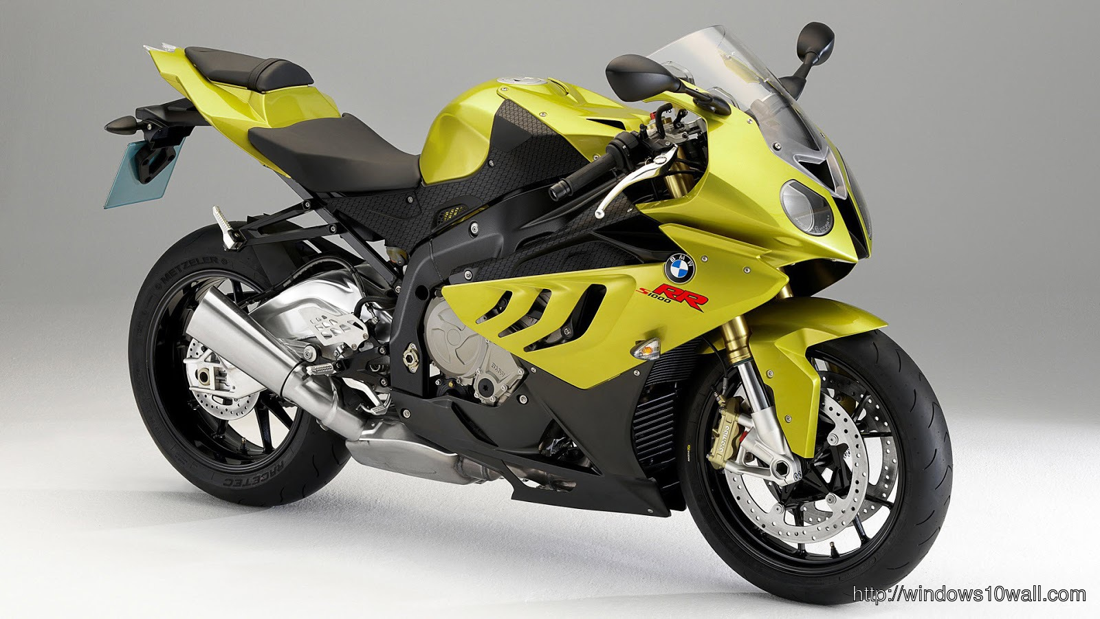 yellow super sport bike wallpaper