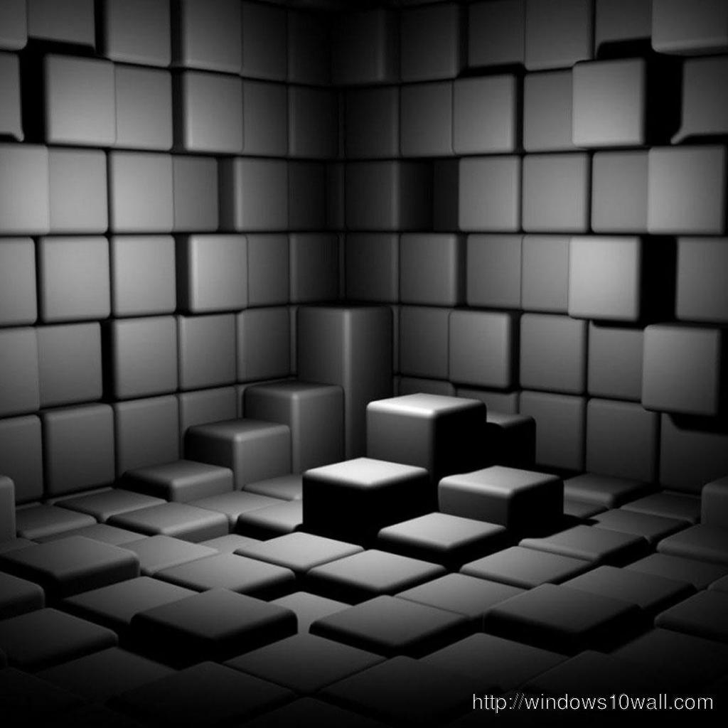 3d bricks cube iPad Wallpapers