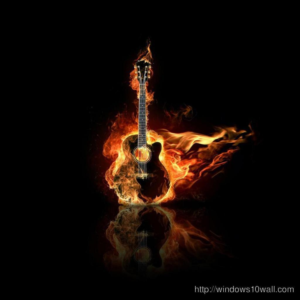 Abstract Guitar iPad background wallpaper
