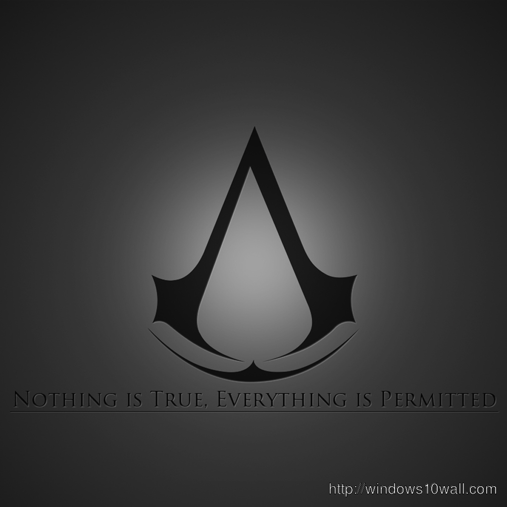 Assassins Creed Brotherhood Logo Ipad Background Wallpaper