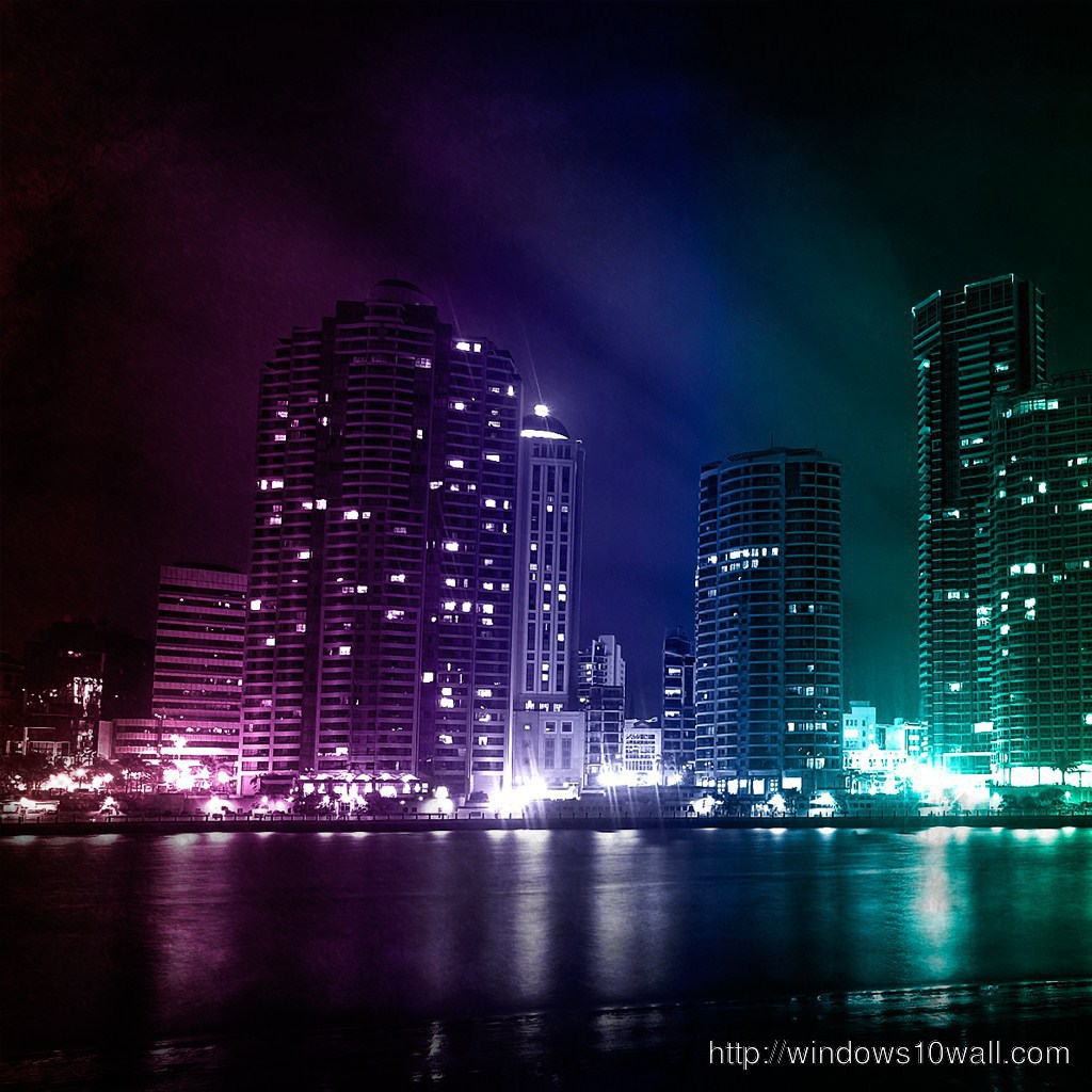 Beautiful City Nights ipad background wallpaper