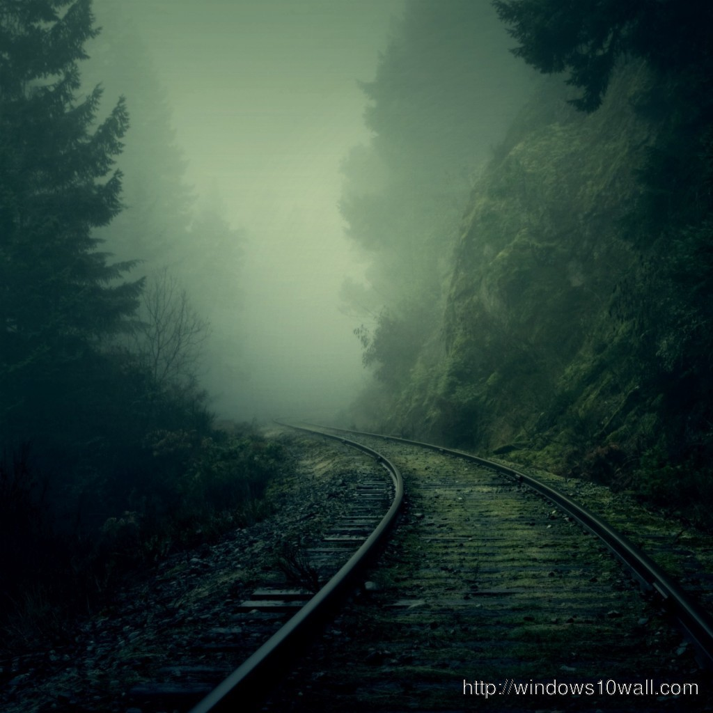 Beautiful Railroad iPad background wallpaper