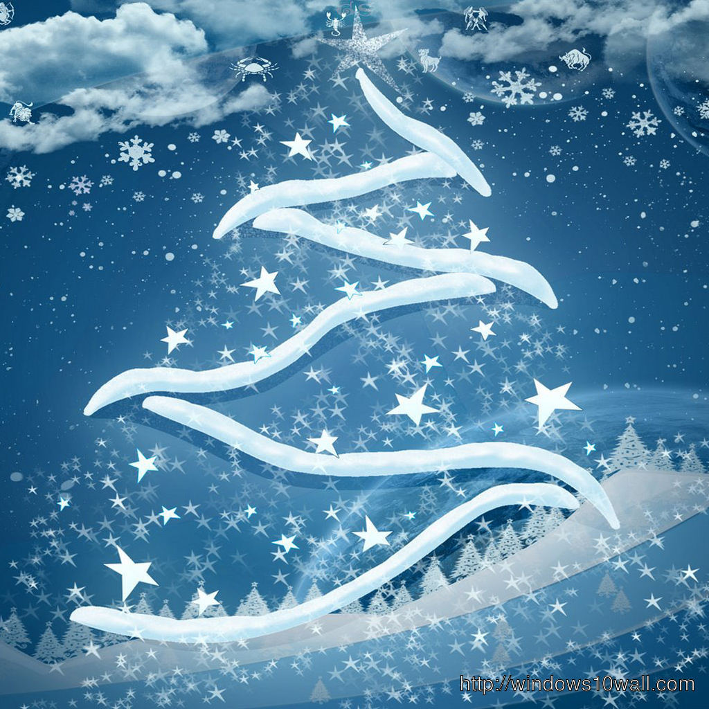 Christmas Tree iPad background Wallpaper