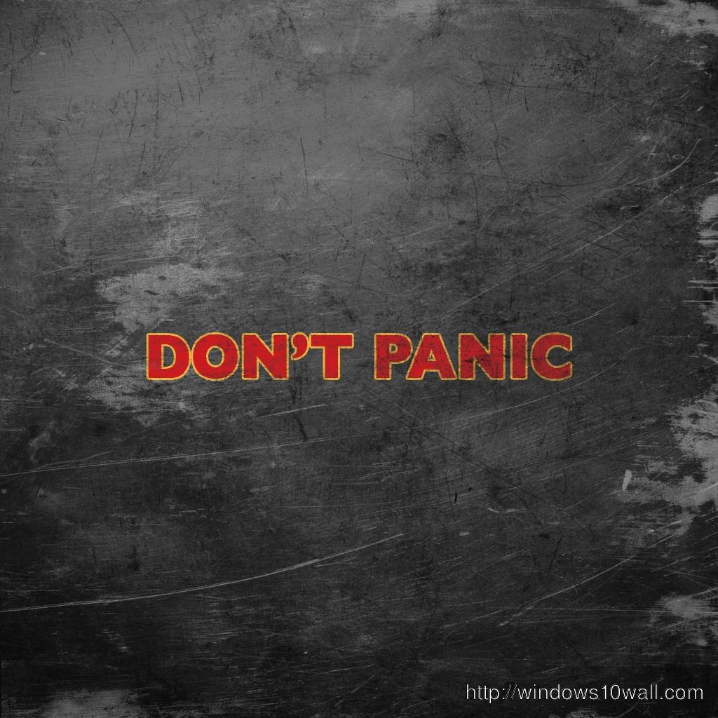 Don't Panic iPad background Wallpaper