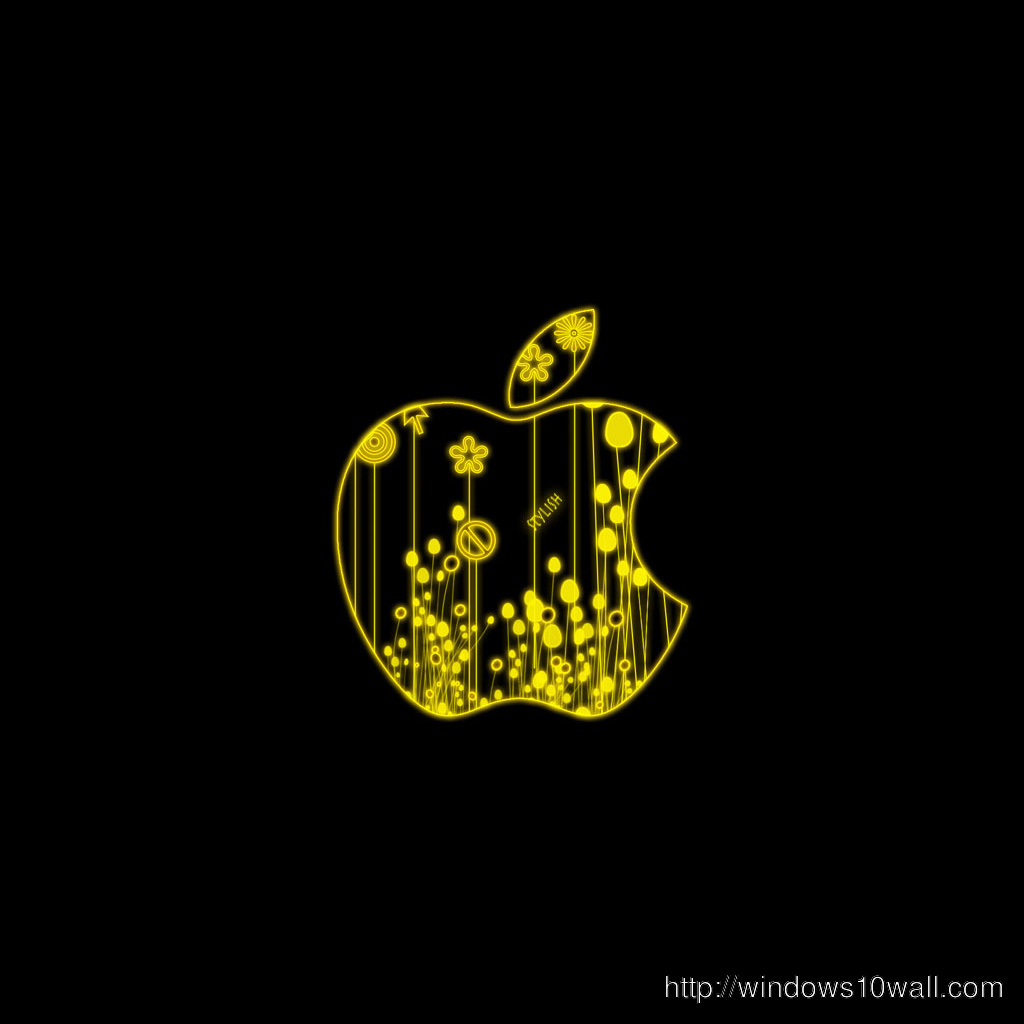 Glowing Apple Ipad Background Wallpaper