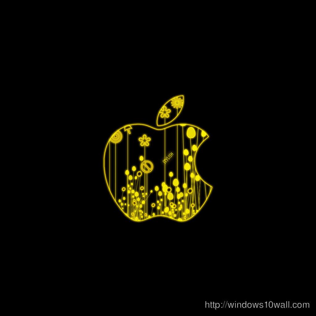 Glowing Apple Ipad Background Wallpaper